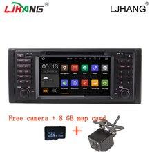 De doble núcleo Reproductor de DVD del coche Para BMW X5 E53 E39 M5 de Dirección Control de la rueda Bluetooth 2 din Espejo Enlace FM radio Stereo GPS Multimedia