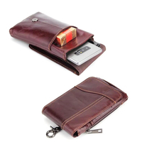 Shoulder Hook Loop Belt Clip Genuine Leather Mobile Phone Case For Motorola Droid Maxx 2 Droid