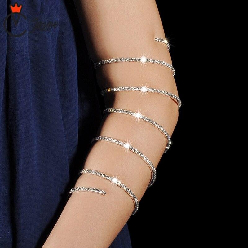 Belly Dance Costume Accessories Belly Dancing Accessories  Women Dancewear Arm Sleeves Adjustable Diamonds Metallic Armbands