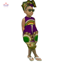 2017 african-clothing-for-children  dashiki Traditional cotton set Matching  Africa Print t Children Summer a set BRW WYT26