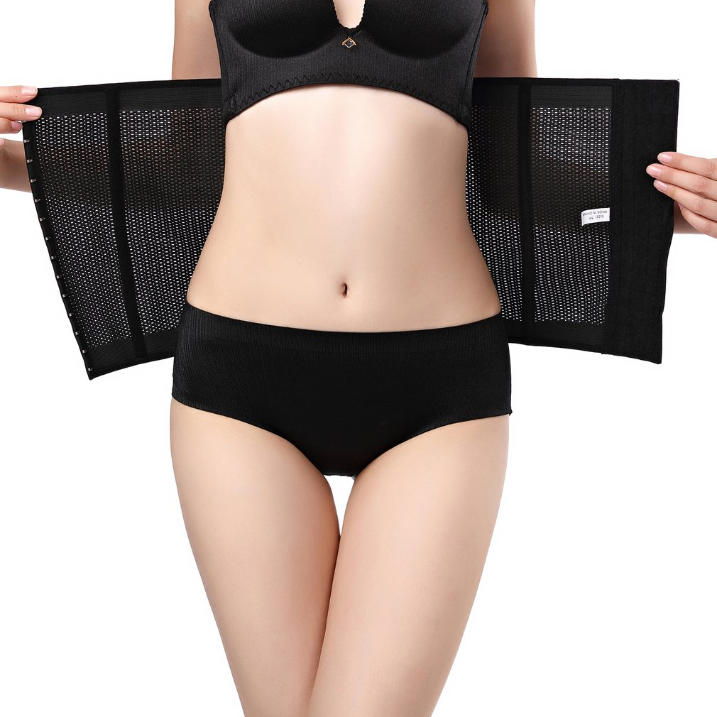 4 Row Buckle High Waist Women Body Shaper Slimming Shaper Belt Sport Waist Trainer Cincher Control Burning Body Tummy Belt