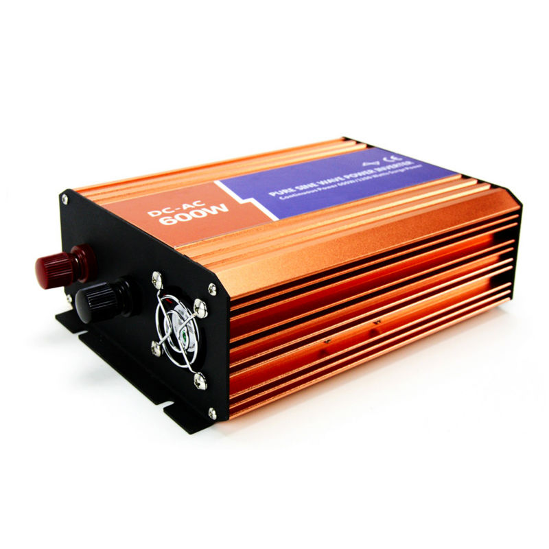 MAYLAR@ 12VDC/24VDC ,600W Off-grid Pure Sine Wave Solar Inverter or wind inverter ,Two year Warranty free shipping 600w wind grid tie inverter with lcd data for 12v 24v ac wind turbine 90 260vac no need controller and battery