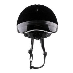 Image 4 - Horse Riding Helmet Velvet Equestrian Rider Safety Head Hat Body Protectors Riding Equipment For Kids Children 48 54cm