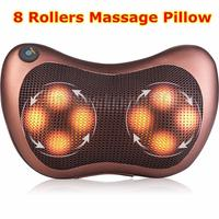 8 Heads Car Massage Pillow Electric Heating Vibrating Kneading Shoulder Massager