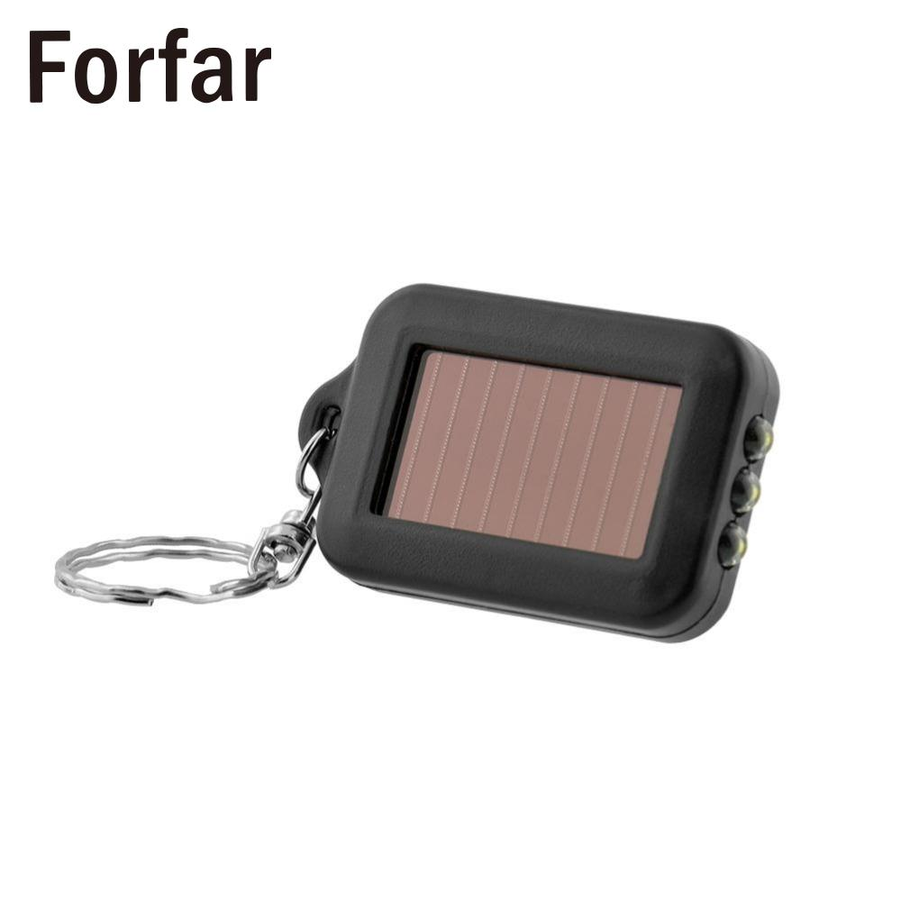 Portable Outdoor Solar Power 3 LED Light Keychain Keyring Torch Flashlight Lamps outdoor camping equipment survival kit