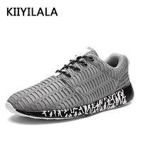 KIIYILALA Brand Gray Sneakers Men Sports Yeezys Mesh Air Lace Up Ultra Light Damping 350 Men