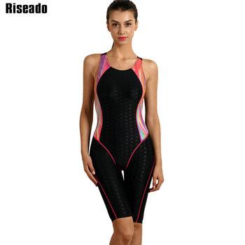 26574dceeee12 Custom Review Riseado 2018 Swimwear Women One Piece Swimsuit Sport Swimming  Suit for Women Professional Swim Wear Summer Bathing Suits