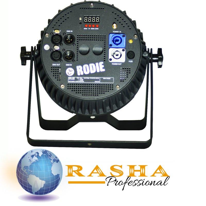 Rasha Fanless(No noise) Rodie 12*15W 5in1 Built In Wireless RGBAW LED Par Light Stage Par Projector With Powercon For Event