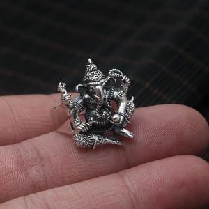 Image 1 - Handgemaakte 925 Zilveren Ring Olifant Fortuin Boeddha Vinger Ring Vingtage Sterling Zilveren Geluk Ring Thailand Ganesh Ring