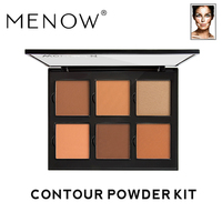MENOW Brand 6 color Concealer Face Modified Contour Powder Plate Highlight shadow Cosmetic Face care Make up ES02
