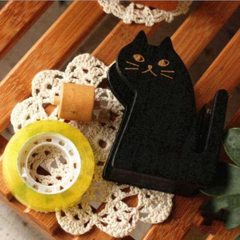 Милый кавайный Кот деревянная лента раздаточная лента держатель ленты резак офисные школьные принадлежности креативные канцелярские подарки украшения дома