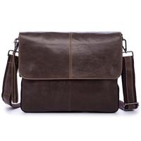 Genuine Leather Men S Handbag Cow Man Messenger Shoulder Bag Male 10 Inch Laptop Bags Crossbody