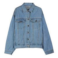 Denim Jacket Women Spring Autumn 2019 Korean Loose Wild Lapel Long Sleeve Jacket Jeans Women's Big Size Cowboy Outerwear f577