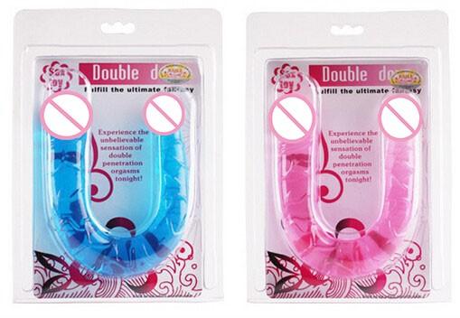 Sex Products Flexible Double Dildo,Long Double Dildo Dong & Penis Lesbian Dual Penis Double Penetration Dildos 8