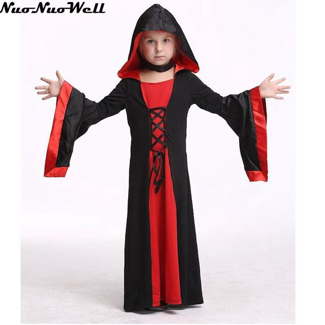 falda negro con tapas nias vestidos halloween cosplay para nios performance traje carnaval bruja rol