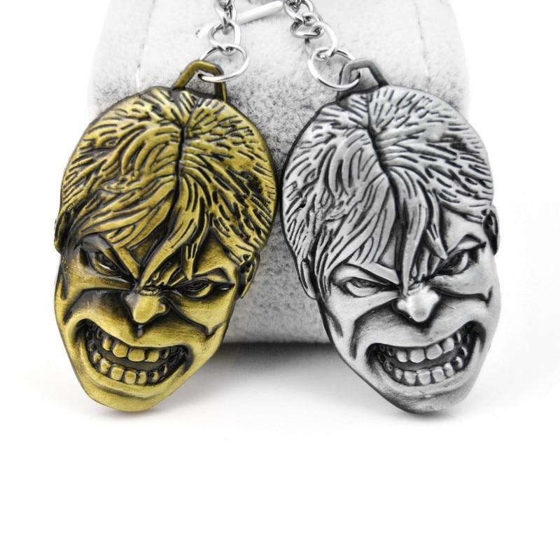 2018 Pop Creative Custom Hulk Keychain Men Super Hero Anime Key Chain Metal Car Game Key Ring Banner Holder Jewelry Gift Souveni