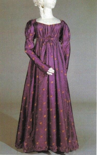 Medieval Clothing Regency Day Dress Victorian dress satin dress