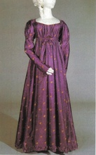 Medieval Clothing Regency Day Dress Victorian dress satin dress