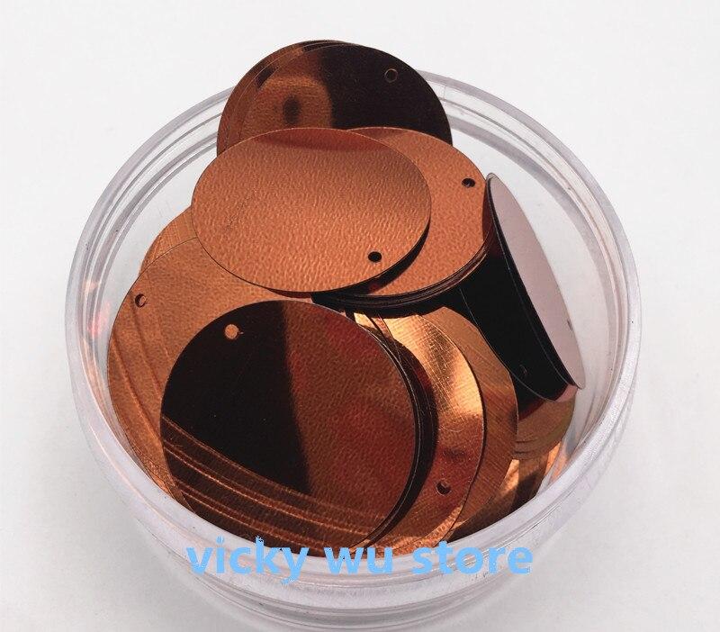 150 шт. коричневый цвет большой круглый Блёстки 30 мм без каблука ПВХ свободные Блёстки пайетками для ремесел Бесплатная доставка