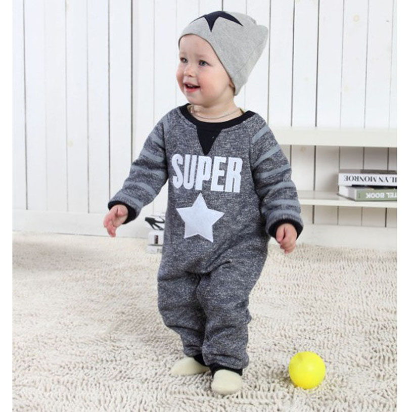 New Born Baby Clothes Cute Spring Roupa Infantil Handsome European Style Baby font b Rompers b