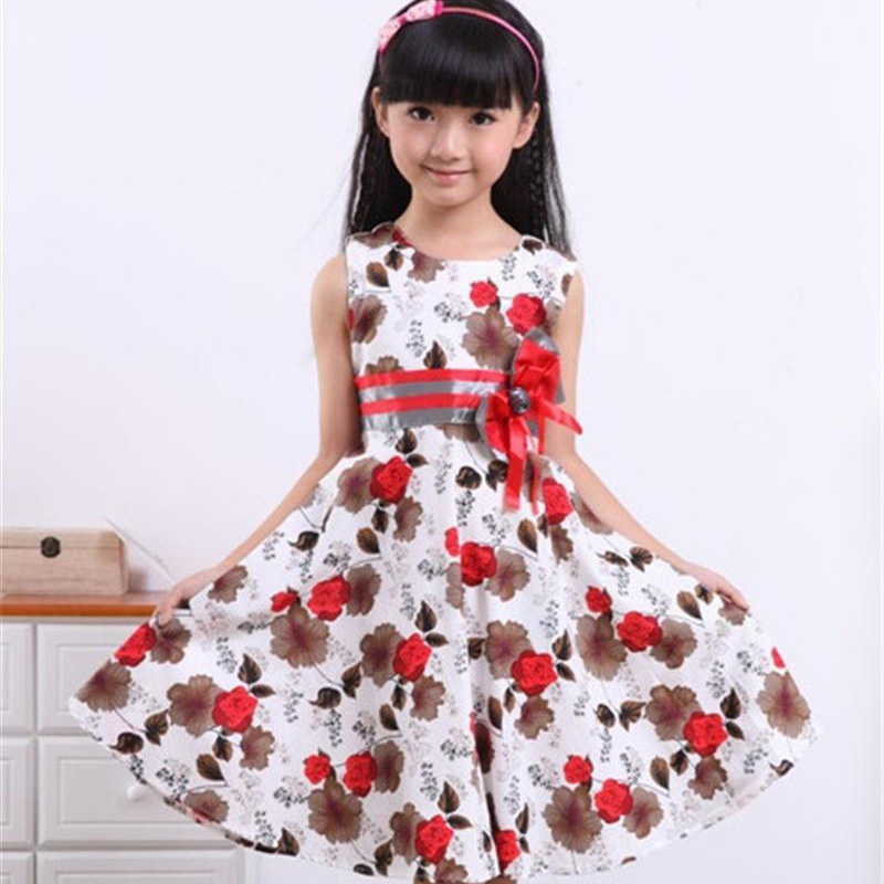 2017 New Fashion Baby Girl Clothes Vestido Flower Girl Dresses Summer Cotton Dress Girl Birthday Party Princess Dress 3-15 years girl dress 2 7y baby girl clothes summer cotton flower tutu princess kids dresses for girls vestido infantil kid clothes