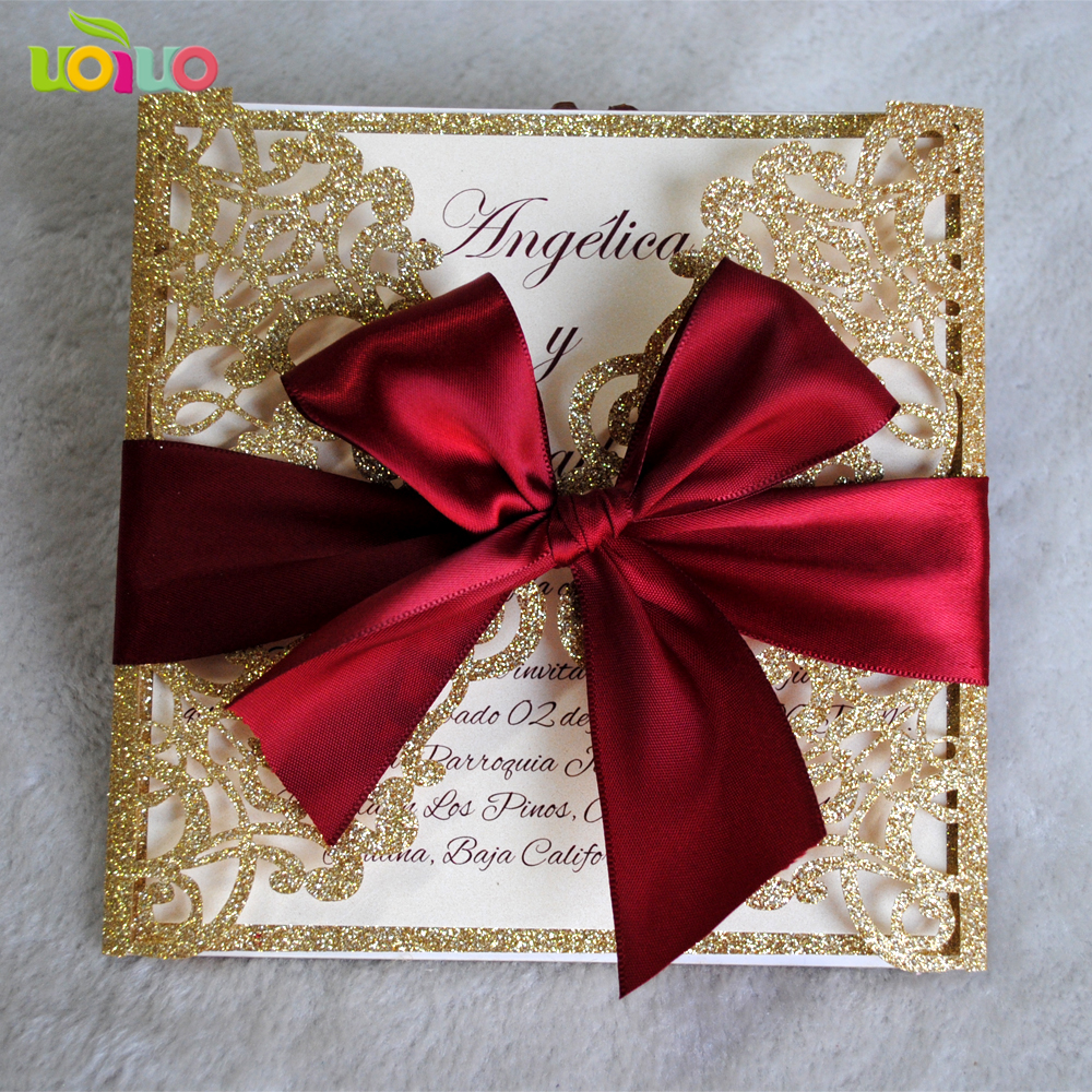 Buy glitter wedding invitations and get free shipping on AliExpress.com