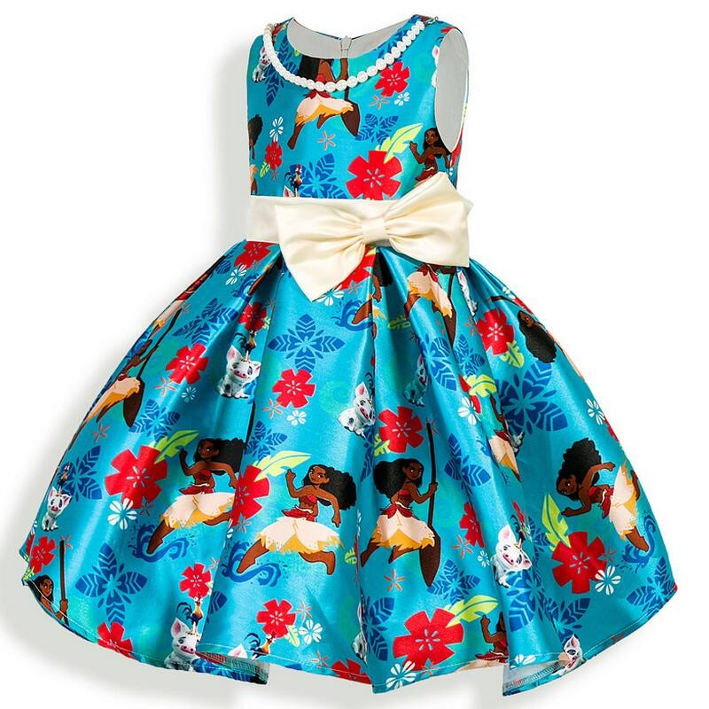 Girls Dress New Summer Costume Fashion Kids Dress Bow ...
