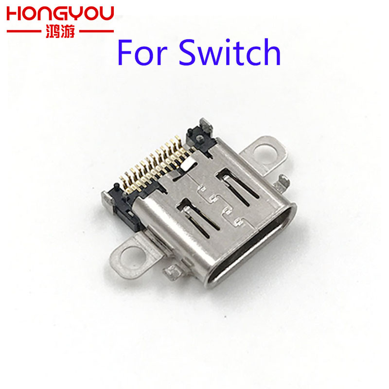 30Pcs Original charging port For Nintendo Switch NS Console Charging Port Power Connector Type C Charger