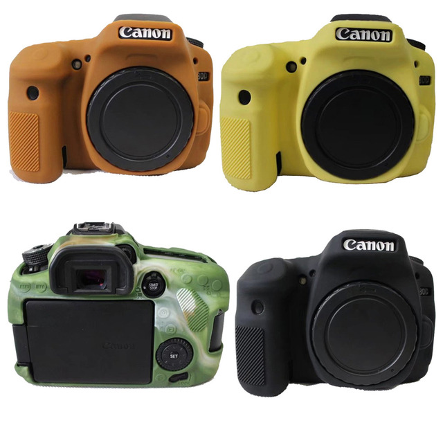 soft silicone armor protective body skin case bag cover for canon