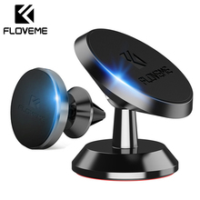 FLOVEME Magnetic Car Phone Holder For In Air Vent Dash Board Magnet Movil Stand iPhone Samsung