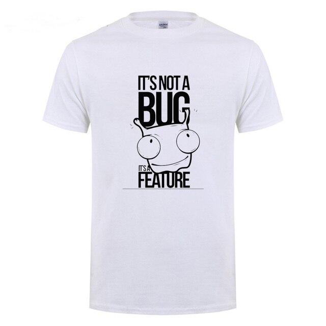 Não é UM Bug é UMA Característica Impresso T Shirt Engraçado Presente de Aniversário Para Homens Pai Pai Marido namorado Programador T-Shirt de Algodão