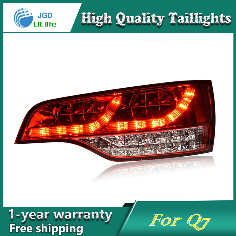 Car Styling Tail Lamp case for Audi Q7 2006-2011 Tail Lights LED Tail Light Rear Lamp LED DRL+Brake+Park+Signal Stop Lamp en car styling for toyota highlander tail lights 2015 2016 led tail light type rear lamp drl brake park signal light