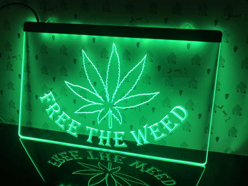 404 Free the Weed  High Life  led Light Sign Decorative Boards    - AliExpress