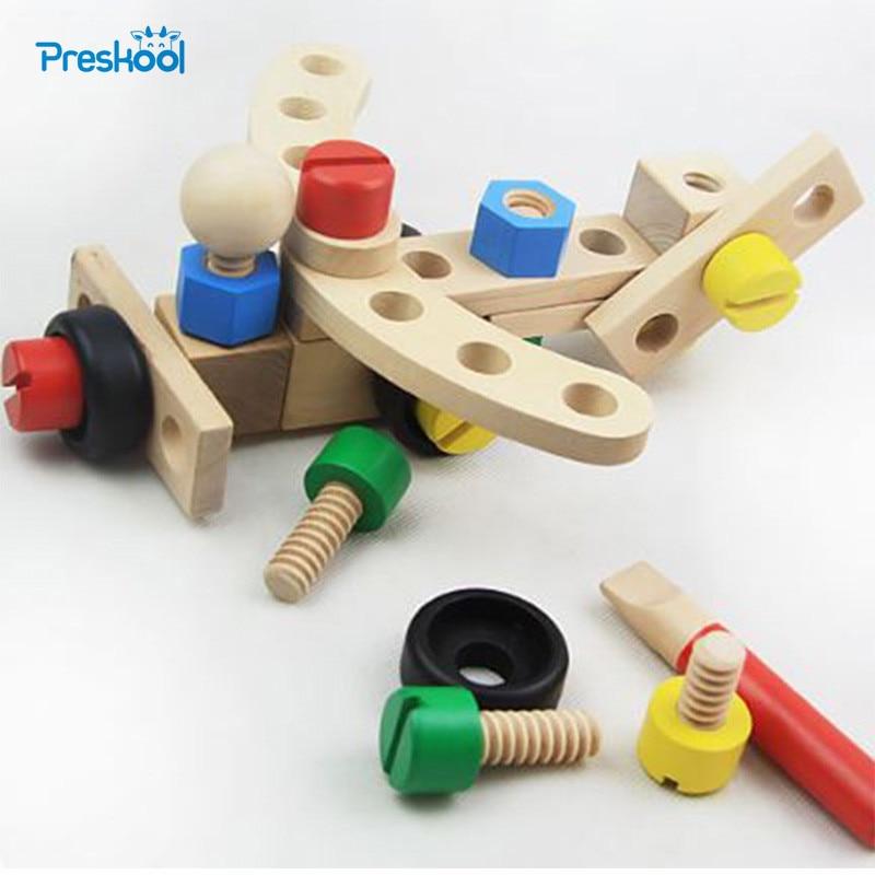 Монтессори детей игрушка строительные автомобили сборки обучения Развивающие Дошкольное обучение brinuedos juguets