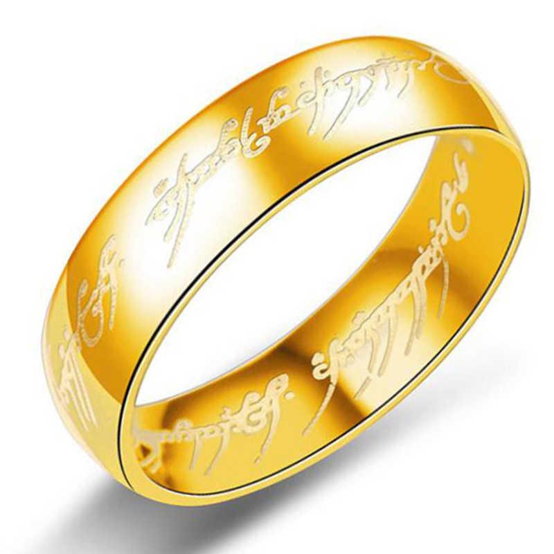 2019 ใหม่ 316L แหวนสแตนเลสปัจจุบัน Lord หนึ่งแหวนแฟชั่นผู้ชายแหวนคู่สแตนเลสเครื่องประดับ