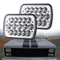 45W 5x7 7x6 LED Headlight Hi/Low Beam H4 Plug Headlamp Replacement H6054 H5054 H6054LL 69822 6052 6053 For Trucks Jeep YJ XJ JK