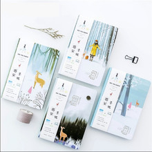 """""""See u Again"""" Cute Hard Cover Notebook Blank Art Drawing Papers Journal Study Diary Stationery Gift"""