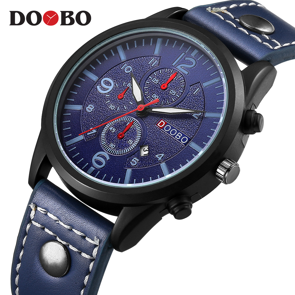 DOOBO Wrist watches Top Brand Sport Watch Men Watch Waterproof Men's Watch Auot Date Clock saat reloj hombre relogio masculino luxury mens quartz wrist watch date gunmetal watches round case watch hot sale watches relogio reloj hombre montre clock saat