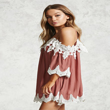 цена New summer fashion personality strap female dress lace red female dress high waist casual sexy loose straight female dress онлайн в 2017 году