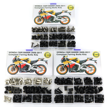 Motorcycle Full Fairing Bolts Kits Screws Washer Nuts Fastener Steel Fit For Honda CBR 1000RR CBR1000RR 2008 2009 2010 2011 for honda cbr600rr cbr 600rr 2007 2008 2009 2010 2011 2012 motorcycle full fairing bolts kit screws bodywork fairing clips
