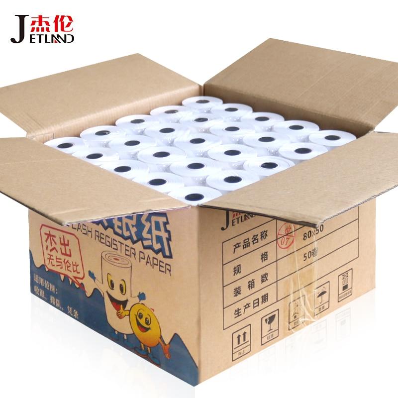 50 Rolls Thermal Receipt Paper 80x50  1ply Cash Register Paper 3-1/8 X 80ft