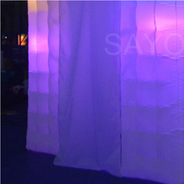 Colorful 8 ft Square Wedding Led Inflatable Photo Booth Inflatable Cube Tent with GBR Bulb with 2 Doors OpeningColorful 8 ft Square Wedding Led Inflatable Photo Booth Inflatable Cube Tent with GBR Bulb with 2 Doors Opening