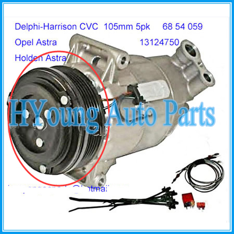 Adattabile Auto Ac Compressore Frizione Fit Per Holden Astra Opel Astra 68 54 059 13124750 Tsp0155449 Cvc 105mm 5pk