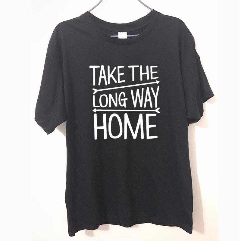 Летний стиль взять долгий путь приключений путешествие Партии Футболка Модные топы смешной подарок футболка для Для мужчин футболки