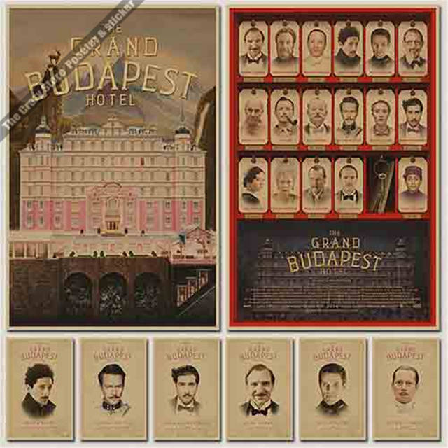 Online Shop The Grand Budapest Hotel Oscars Poster Decorative