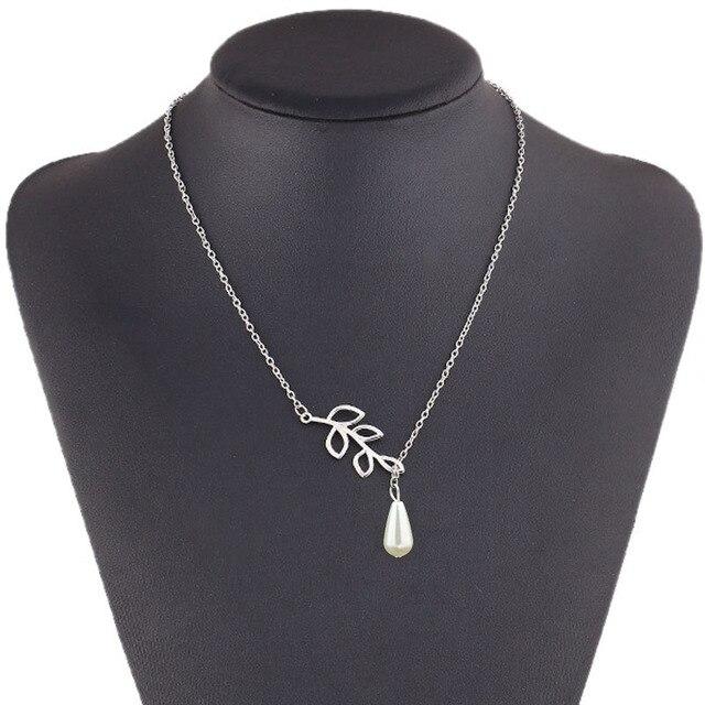 Delicate Bird & Leaf Shape Pendant Necklace 2