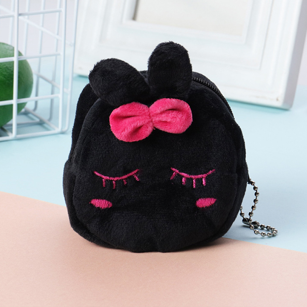 Plush Zipper Stereo Large Capacity Mini Portable Girls Key Cartoon Soft Gift Cute Coin Purse Money Bag(China)