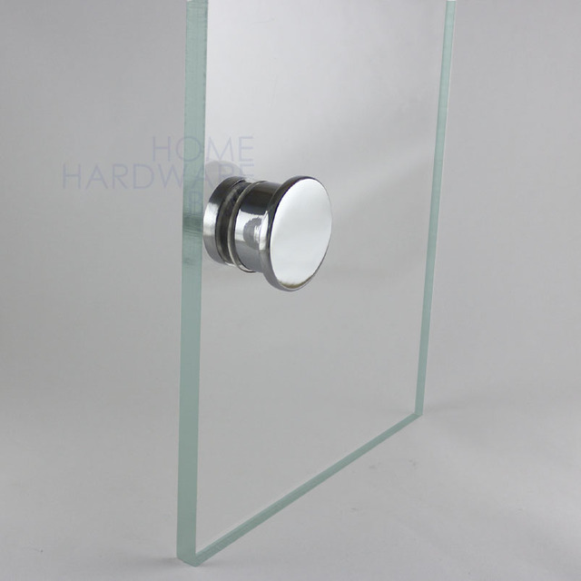 Chrome Polish Cabinet Glass Door Knob Showcase Pull Metal Handle M6 Screw  Hole