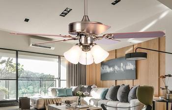 Quạt trần nhà hàng đèn quạt của Châu Âu hiện đại phòng ngủ phòng khách quạt trần sắt ánh sáng fan chủ đèn FS14