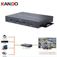 401MS HDMI 4x1 Quad Multiviewer Switcher Simultaneously 1080P 60Hz HDMI Quad Screen Multiviewer Switch Seamless Wall
